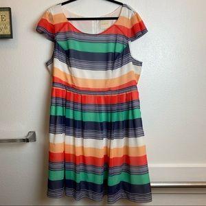 Mod cloth plus size dress colorful stripes
